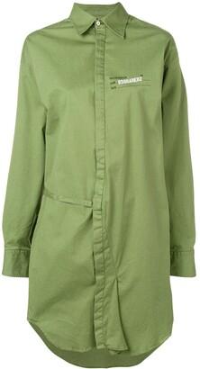 DSQUARED2 longline asymmetric shirt