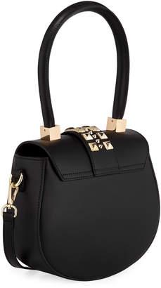 Mario Valentino Valentino By Yolande Palmellato Leather Saddle Bag