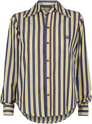 Vivienne Westwood Piano Shirt Blue/Yellow Stripes Size 38
