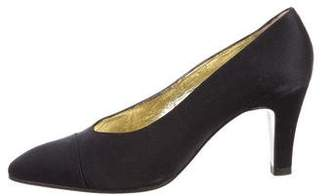 Chanel Satin Pointed-Toe Pumps