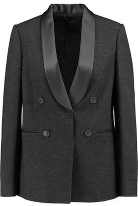 Brunello Cucinelli Double-Breasted Wool Cotton And Silk-Blend Blazer