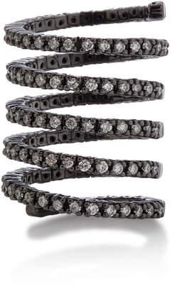 Lynn Ban Jewelry Vortex Rhodium-Plated Silver and Diamond Ring