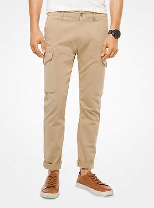 Michael Kors Cotton-Faille Cargo Pants