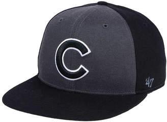 '47 Chicago Cubs Black Sure Shot Accent Snapback Cap
