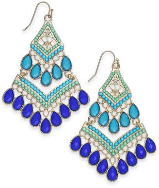 INC International Concepts I.N.C. Gold-Tone Stone & Bead Drop Earrings, Created for Macy's