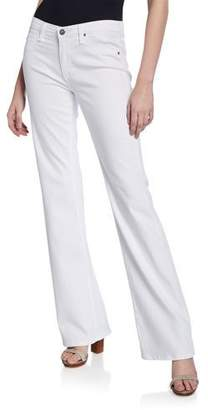 AG Jeans Angel Mid-Rise Boot-Cut Jeans, White