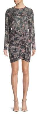 Etoile Isabel Marant Jirvina Floral Camo-Print Mini Dress