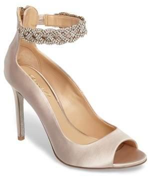 Badgley Mischka Alanis Embellished Ankle Strap Pump