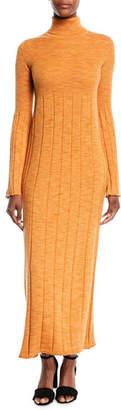 Elizabeth and James Clementine Space-Dye Long Extrafine Wool Turtleneck Dress