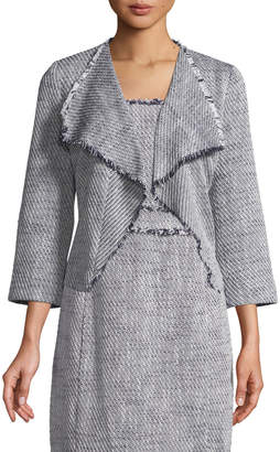 Karl Lagerfeld Paris Tweed Waterfall-Front Jacket