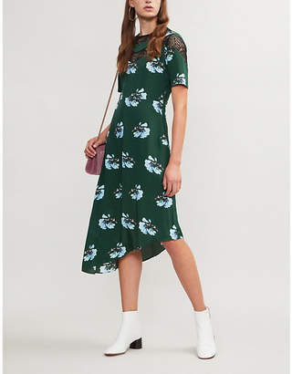 Maje Rowers floral-printed woven dress