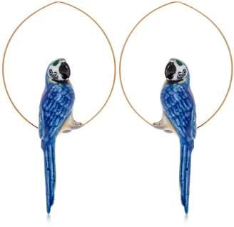 Nach Blue Parrot Hoop Earrings