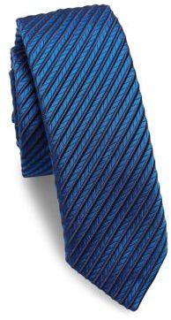 Hugo BossHUGO BOSS Textured Striped Silk Tie