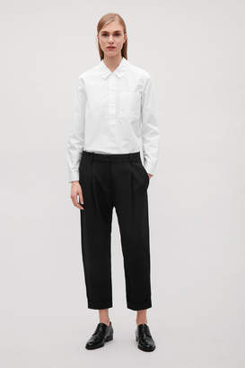 Cos WOOL TROUSERS WITH TURN-UPS