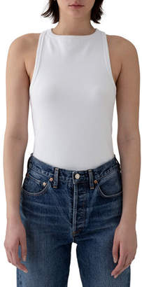 94aa600aae8 High Neck White Tank Top - ShopStyle