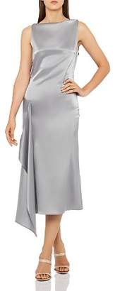 Reiss Seren Draped Satin Dress