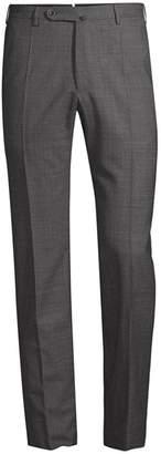 Incotex Benson Straight Leg Wool Trousers