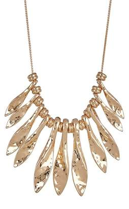 14th & Union Textured Leaf Statement Necklace