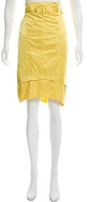 Nina Ricci Belted Silk Skirt