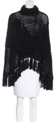 Christian Dior Open Knit Wool Poncho