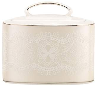 Kate Spade platinum\u002Fwhite chapel hill sugar bowl