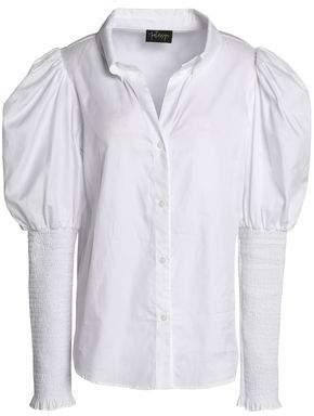 Petersyn Shirred Cotton-Twill Shirt