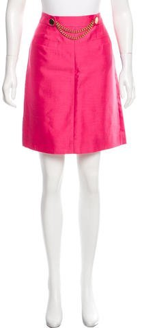 Kate Spade New York A-Line Chain Link-Accented Skirt