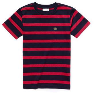 Lacoste (ラコステ) - BOYS ツートーンボーダー Tシャツ (半袖)