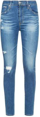 AG Jeans Farrah Distressed Skinny Ankle Jeans