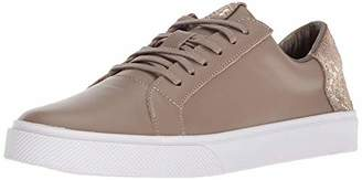 Kaanas Women's San Rafael Contrast Heel Lace-Up Leather Casual Fashion Sneaker