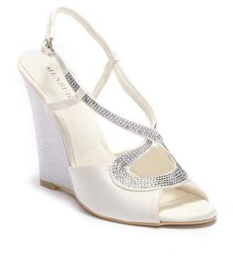 Menbur Tunder Satin Wedge Sandal