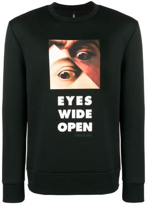 Neil Barrett Eyes sweatshirt