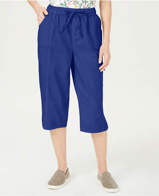 Karen Scott Cotton Cropped Pants