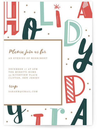 fun type Holiday Party Invitations