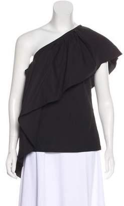 Rosie Assoulin One-Shoulder Ruffled Top