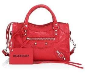 Balenciaga Mini City Leather Satchel