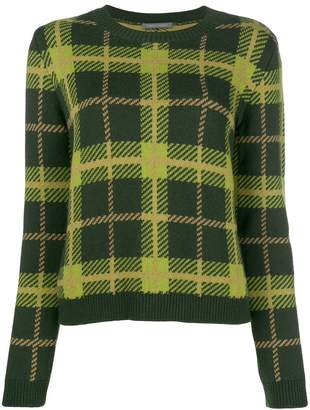 Alberta Ferretti plaid fitted sweater