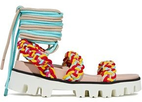 Red(V) Red(v) Braided Cord Sandals