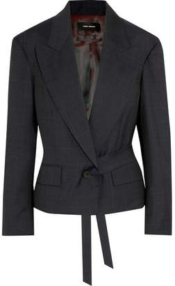 Isabel Marant Miller Checked Wool Blazer - Midnight blue