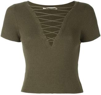 Alexander Wang 502202S17 MILITARY ??? COTTON/CASHMERE