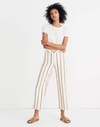Madewell Tall Emmett Wide-Leg Crop Pants in Antique Coral Stripe