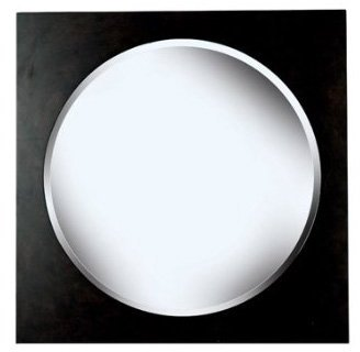 "Kenroy Home Eclipse Wall Mirror 34"""" w/ Brushed Silver Finish"""