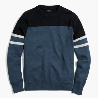 J.Crew Cotton colorblock crewneck sweater