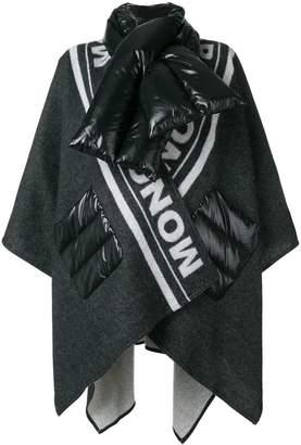 Moncler padded scarf cardi coat