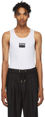 Versace White Logo Tank Top