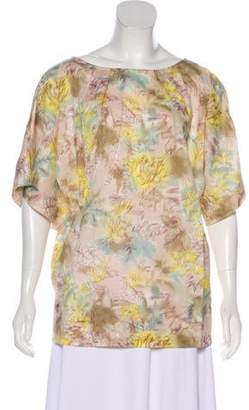 Elizabeth and James Print Short Sleeve Top