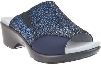 Alegria Leather Slide Wedge Sandals - Ryli