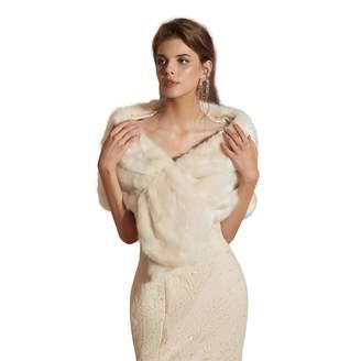 60aaa8c403 Adonis Pigou Faux Fur Wrap Shrug Stole Wedding Shawl Winter Bridal  Bridesmaids' Cover up