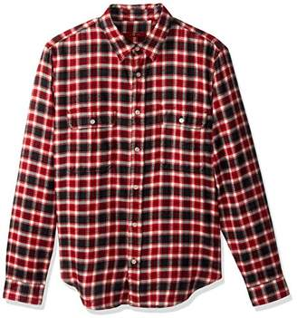 7 For All Mankind Men's Brushed Plaid Flannel Shirt