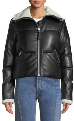 Mackage Cammi Down-Fill Leather Jacket